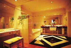 Illuminated Spacious Bathroom