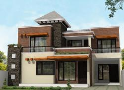 Exterior elevation design for 2 story residence