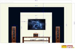 Black And White Theme Based LCD Unit of 18 feet Length And 10 feet Height