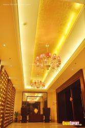 Hotel lift lobby ceiling  design
