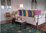 Jaipuri Khadaidar Pillow well Decorated Sofa in the Living Room