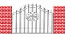 front gate design made with iron