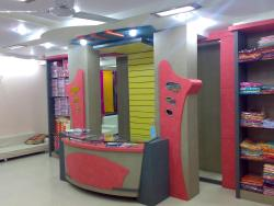 Reception counter of sari showroom