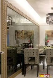 designer  glass wall decor for dining