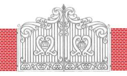wrought iron door gate decorative design
