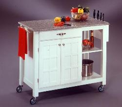 Movable Granite Top Kitchen Island