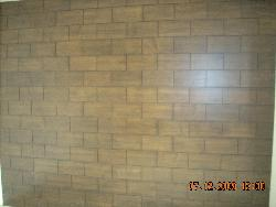 Veenered panelling in brick pattern