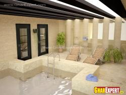 indoor pool seating chairs