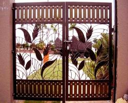 Carved Main gate design in iron