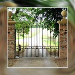 wrought iron main gate design