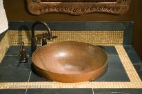 Exotic Bathroom Style in Bronze Metal