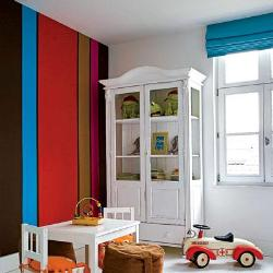 kids room paint design in strips