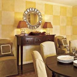 check pattern paint ideas for dining