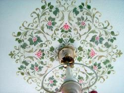 colorful flower pattern on ceiling