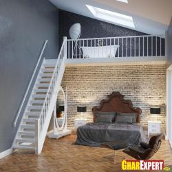 Bedroom design below stairs