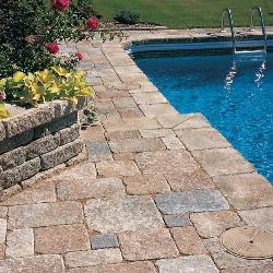 Flooring for swimming pool side area
