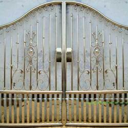 stainless steel gate design covered from back