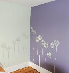Wall Stensil Decoration