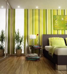 Green Stripes for Wall Decoration