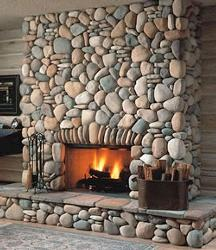Stone Wall Cladding Design for Fire Place