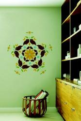 multicolored wall graphics decor