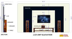 Black and White theme based LCD Unit of 18 Feet Wide and 10 Feet Depth