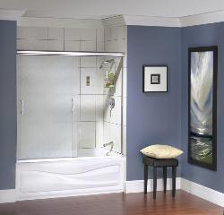 Sliding door for shower enclosure for bathroom