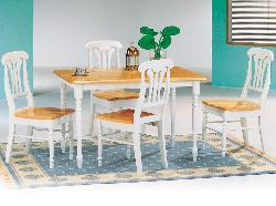 Dining room set painted in dual tone