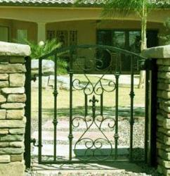 wrought iron gate minimal design