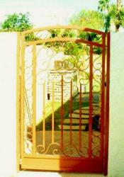 small wrought iron gate for backyard