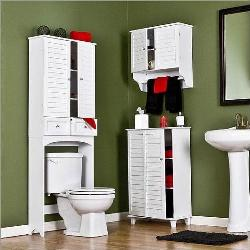 bathroom cabinet, WC and bathroom storage