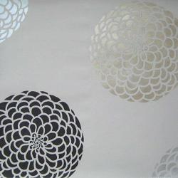 Paint stencil flower pattern