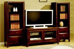 Rustic style TV unit for LCD with ample storage