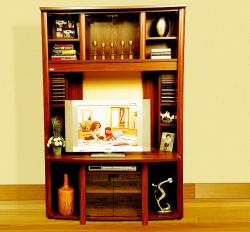 TV unit in traditional wooden style