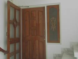 Teak wood  composite panel door with mesh door