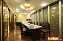 Separate dining hall for guests in restaurant
