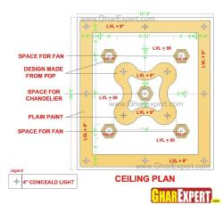 Simple economical POP false ceiling design