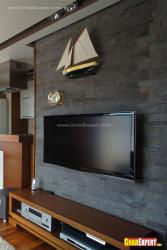 LCD on stone wall cladding