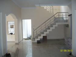 Internal stairs with marble slab flooring