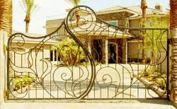 decorative iron gate design