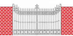 decorative iron gate drawing