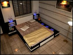 Bedroom interior design in 3D