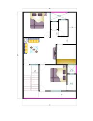 30 X 40  East Facing House Plan