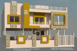"""Front Elevation of 40"""" x 60"""""""" plot with G.F Parking"""