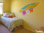 Painted walls to satisfy current crazes