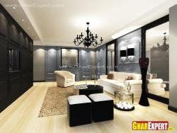 Ultra Rich living room in large space