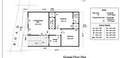 Ground floor plan 675 Sq Feet