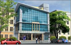 3D elevation design of shopping complex