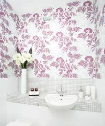 Bathroom Wall paper design