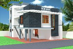 Modern 3D Home Elevation